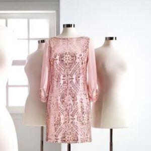 Eva Mendes sequin dress